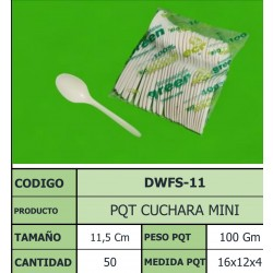 CUCHARA ECOGREEN MINI 11.5 CM X 50