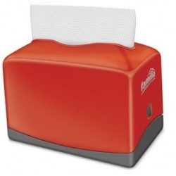 DISPENSADOR SERVILLETA PLUS 100 FAMILIA ROJO 80132