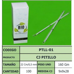 PITILLO ECOGREEN EMPACADO 22 CM - 0.5 MM  X 100